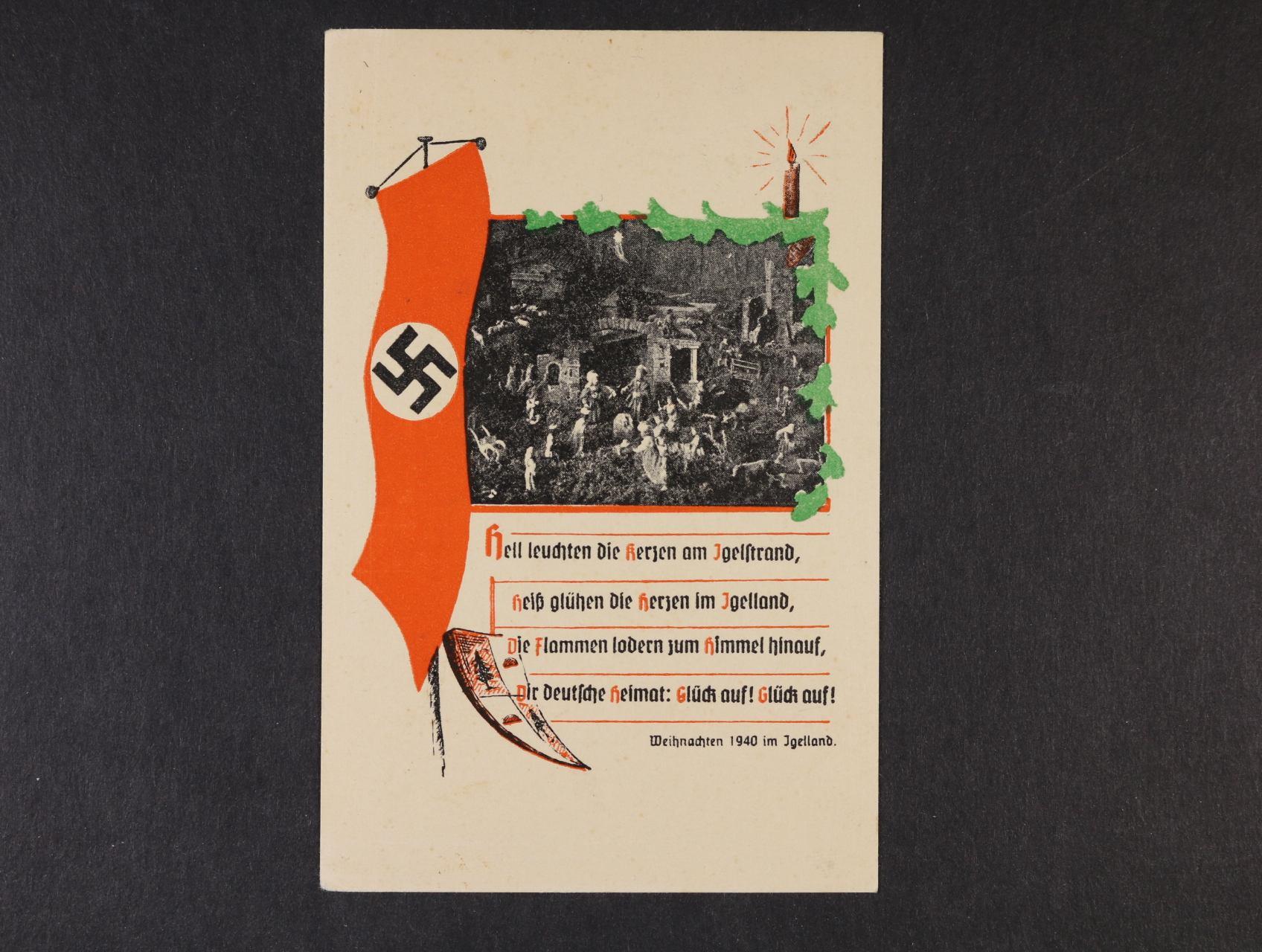 bar. pohlednice Weihnacht 1940 im Igeland, nepoužitá