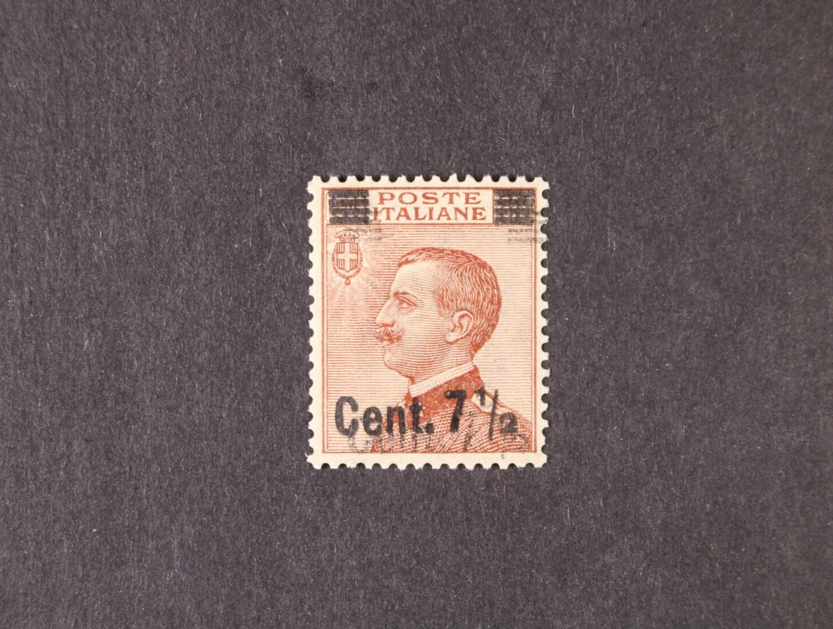 zn. Sassone č. 136 II s dvojitým přetiskem, 3000 EUR, zk. Bolafi, Diena,