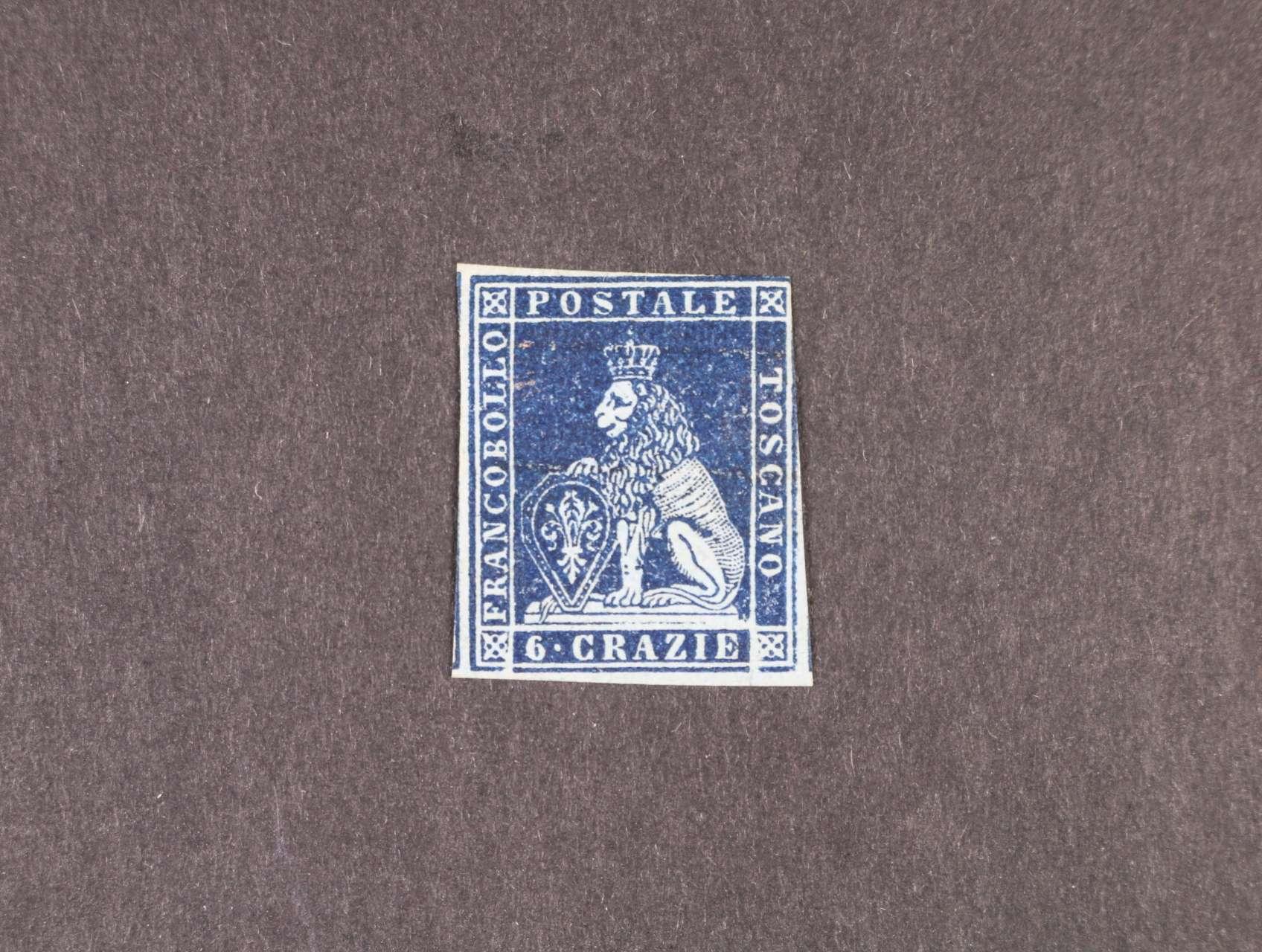Toskánsko - zn. Sassone č. 7y původní lep, zk. Diena, atest Matl, velmi pěkný zachovalý exemplář
