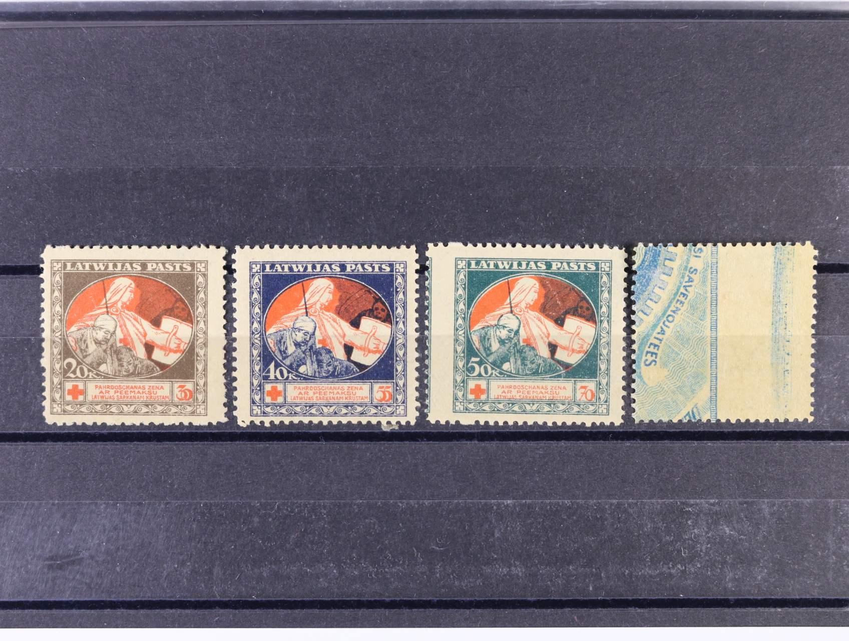zn. Mi. č. 65y - 68y (modrý podtisk, 140 EUR, zajímavé