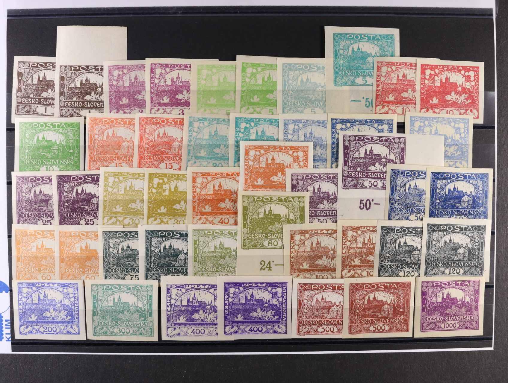 zn. č. 1 - 26, sestava 45 ks, různé odstíny barev vč. zn. č. 5a, 6, 10c, 23a, kat. cena 3900 Kč