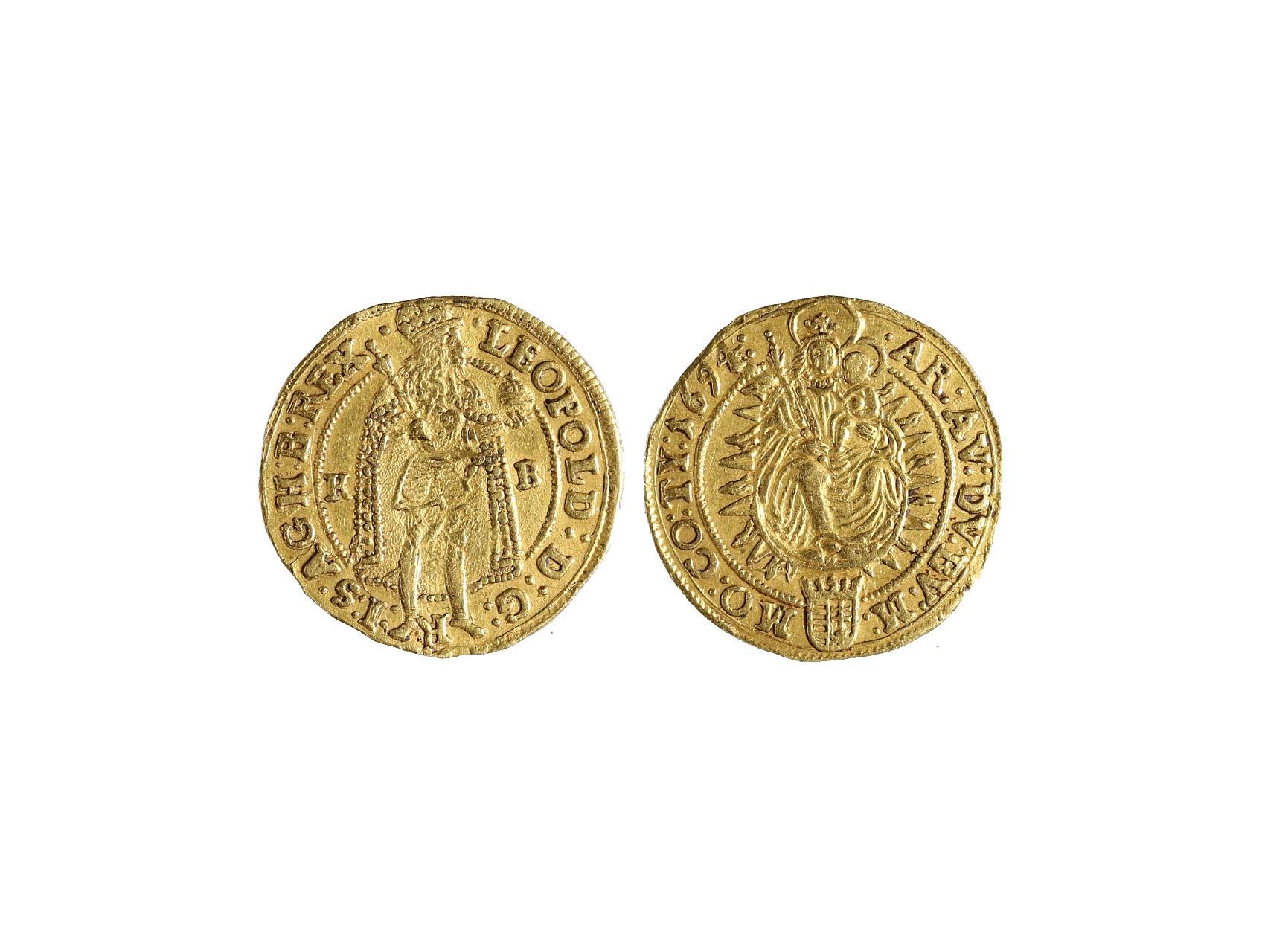 Leopold I. 1657-1705 - 1 Dukát 1694 KB, krajový střižek