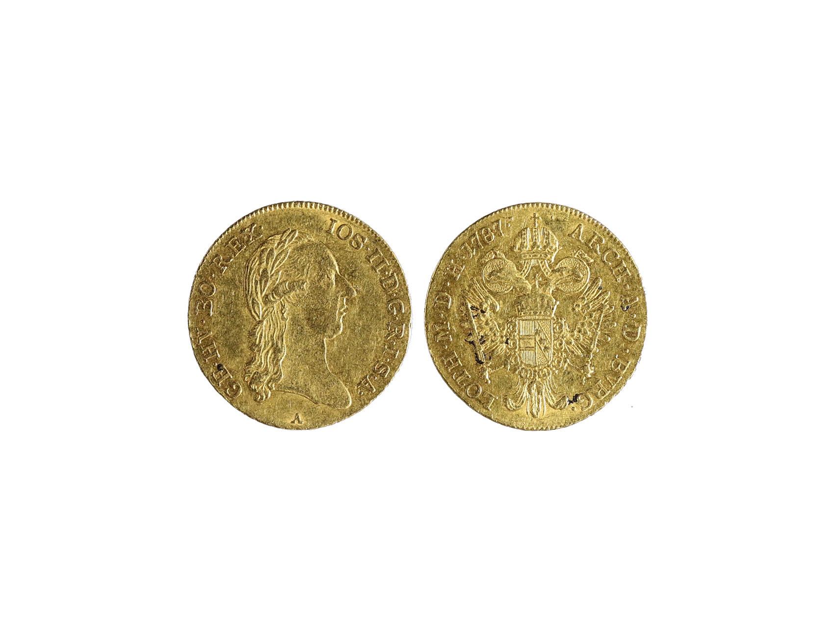 Josef II. 1765-1790 - Dukát 1787 A, váha 3,49 g, N55