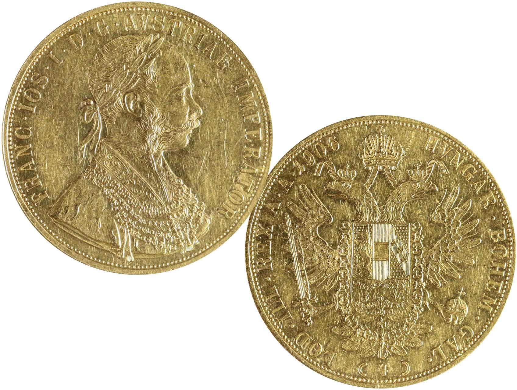 František Josef I. 1848-1916 - 4 Dukát 1906, N117