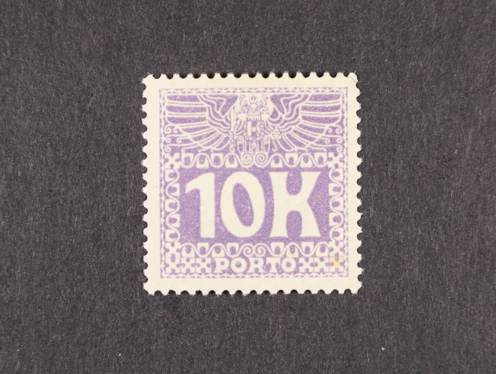 zn. PORTO Mi. č. 46 10K tmavěfialová, kat. cena 1000 EUR