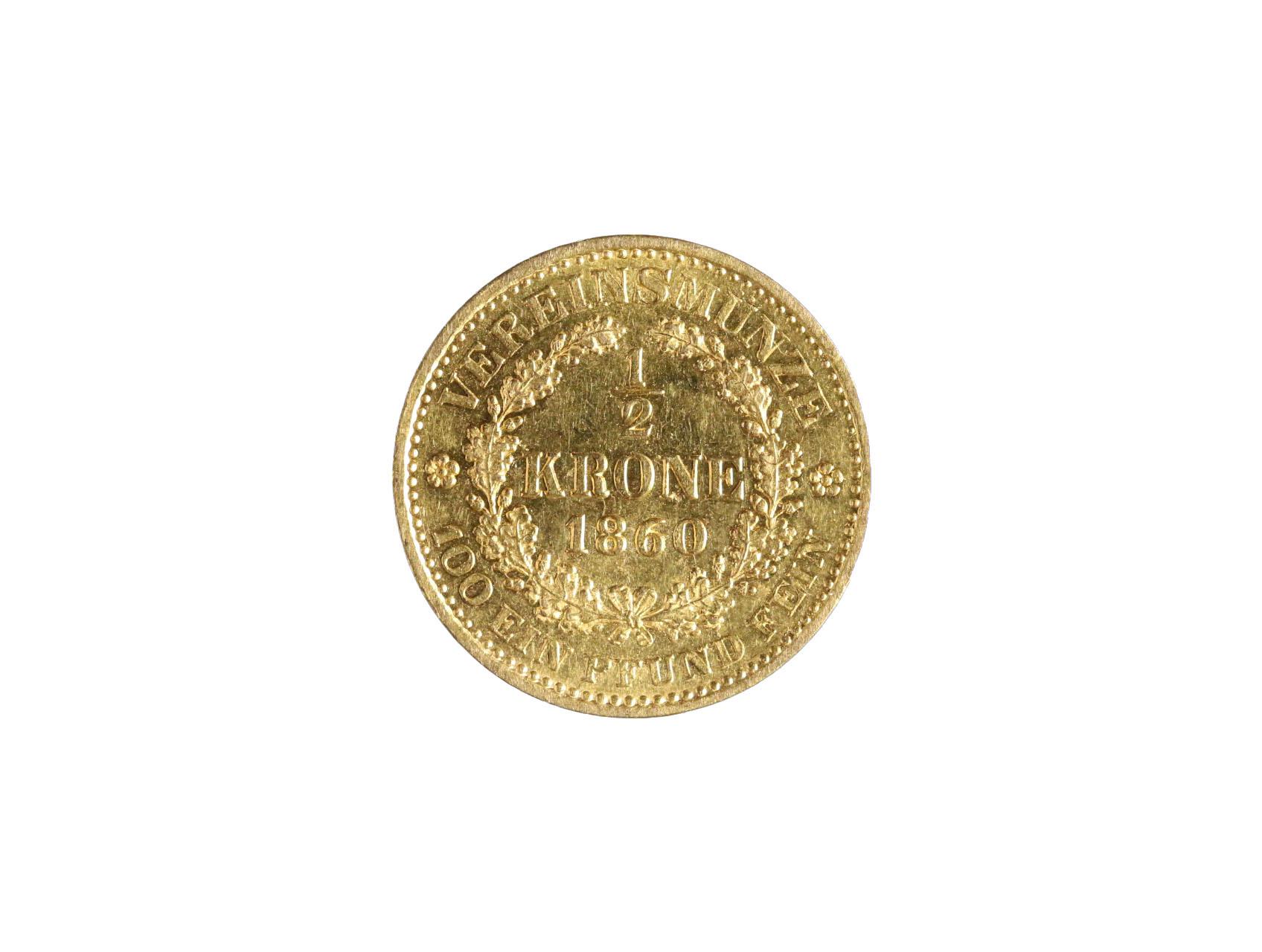 František Josef I. 1848-1916 - 1/2 Koruna spolková 1860 A, N118, ex. aukce Rauch 87/ 2010