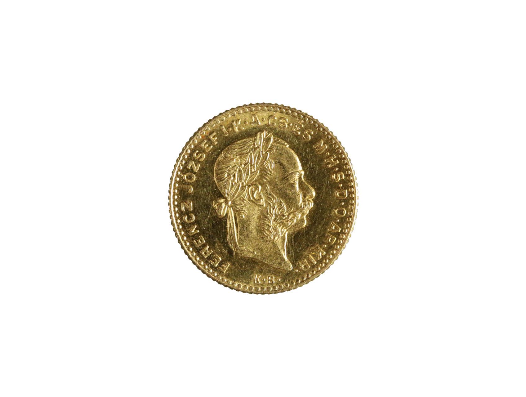 František Josef I. 1848-1916 - 4 Zlatník 1888 K.B., N124, nádherný stav