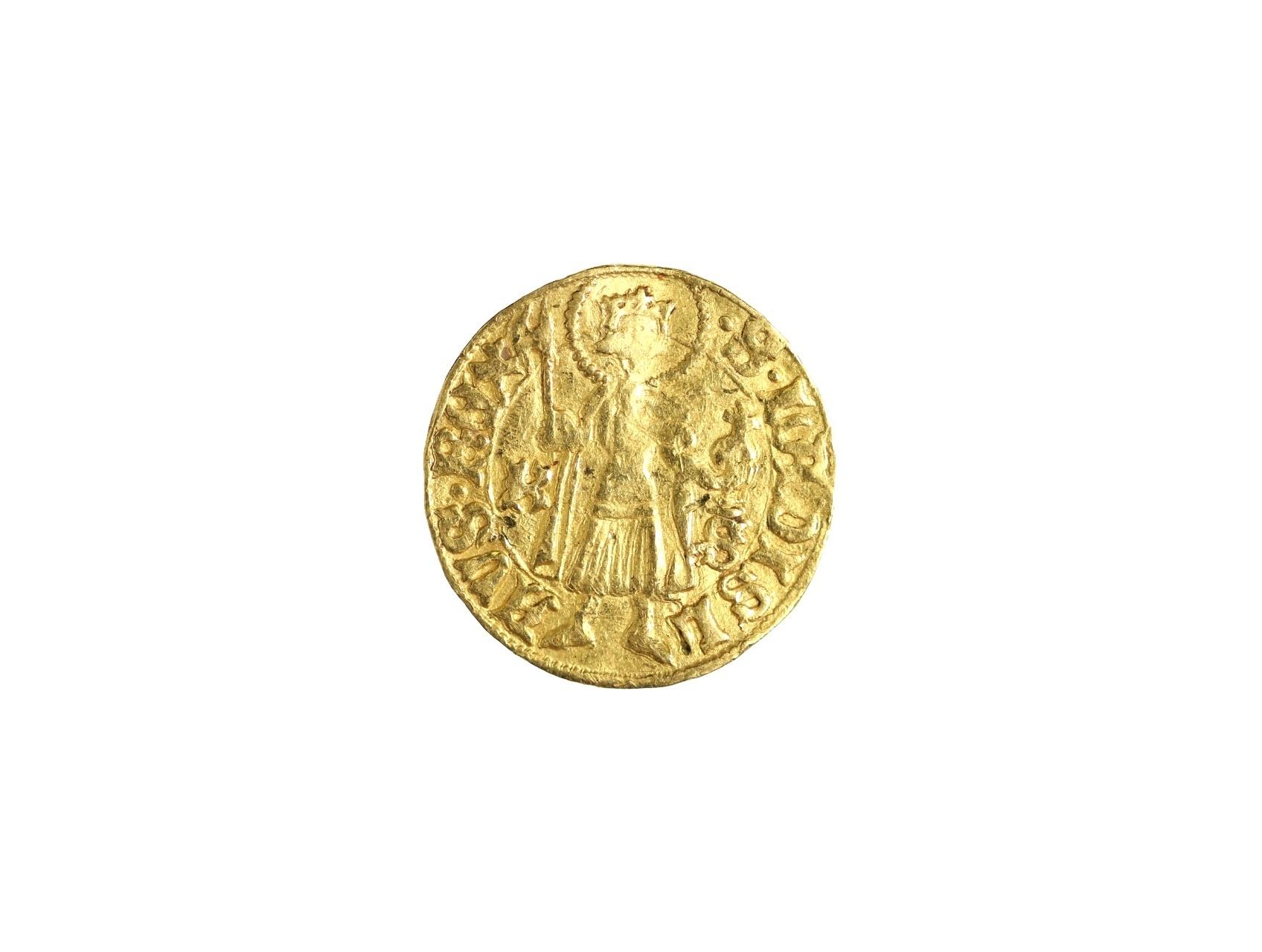Zikmund Lucemburský 1387-1437 - Dukát b.l. K.S. Kremnica, váha 3.52g, Gyön. 180a, mírně prohlý