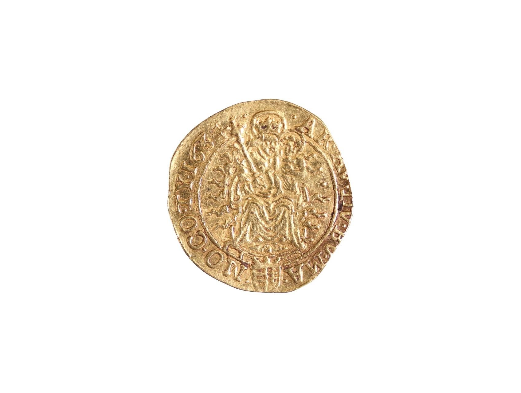 Ferdinand II. 1619-1637 - Dukát 1634 KB, 3,35 g., Husz. 1166, zvlněný