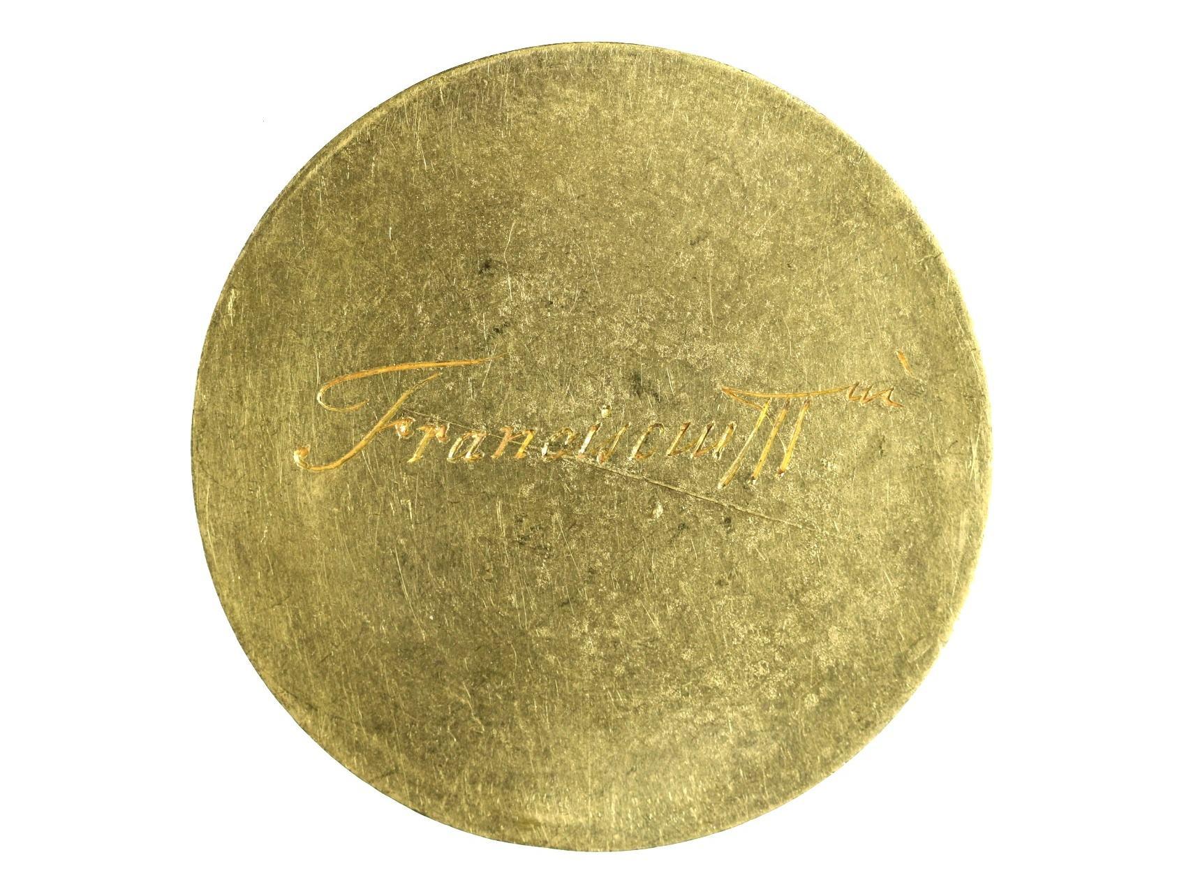 František Lotrinský 1745-1765 - zlatá 25-ti dukátová medaile s opisem SALVTEM EX INIMICIS, na R vyryto