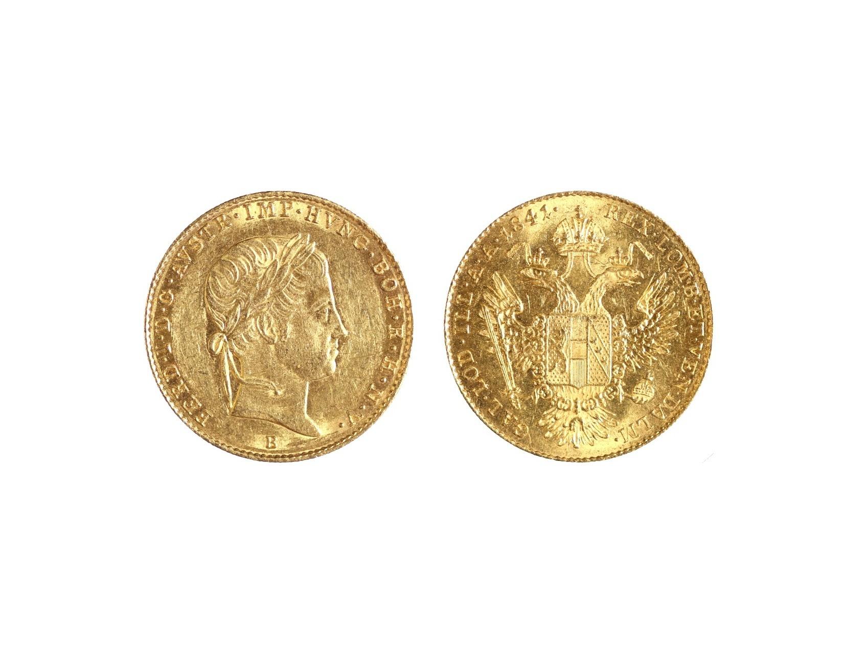 Ferdinand V. 1835-1848 - Dukát 1841 B, N44