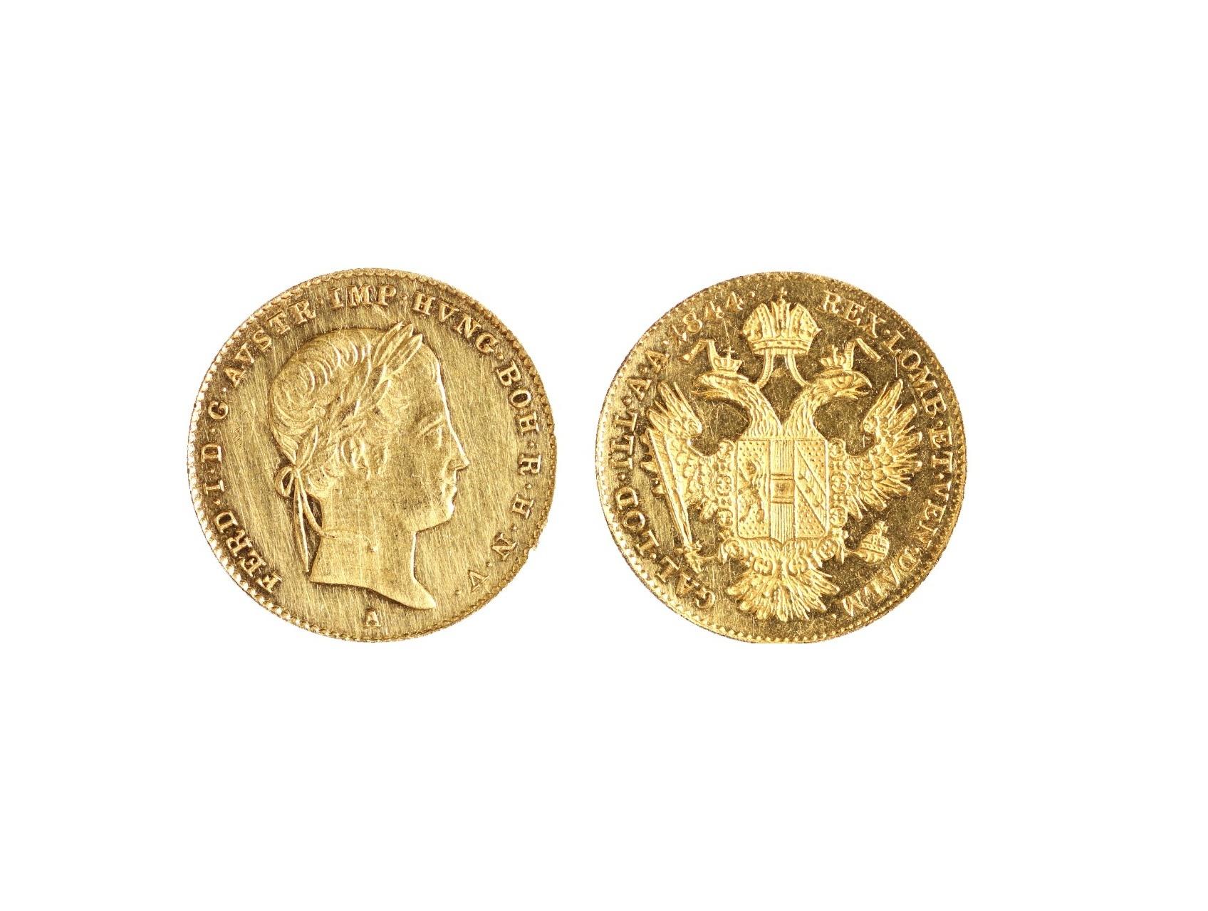 Ferdinand V. 1835-1848 - Dukát 1844 A, N44