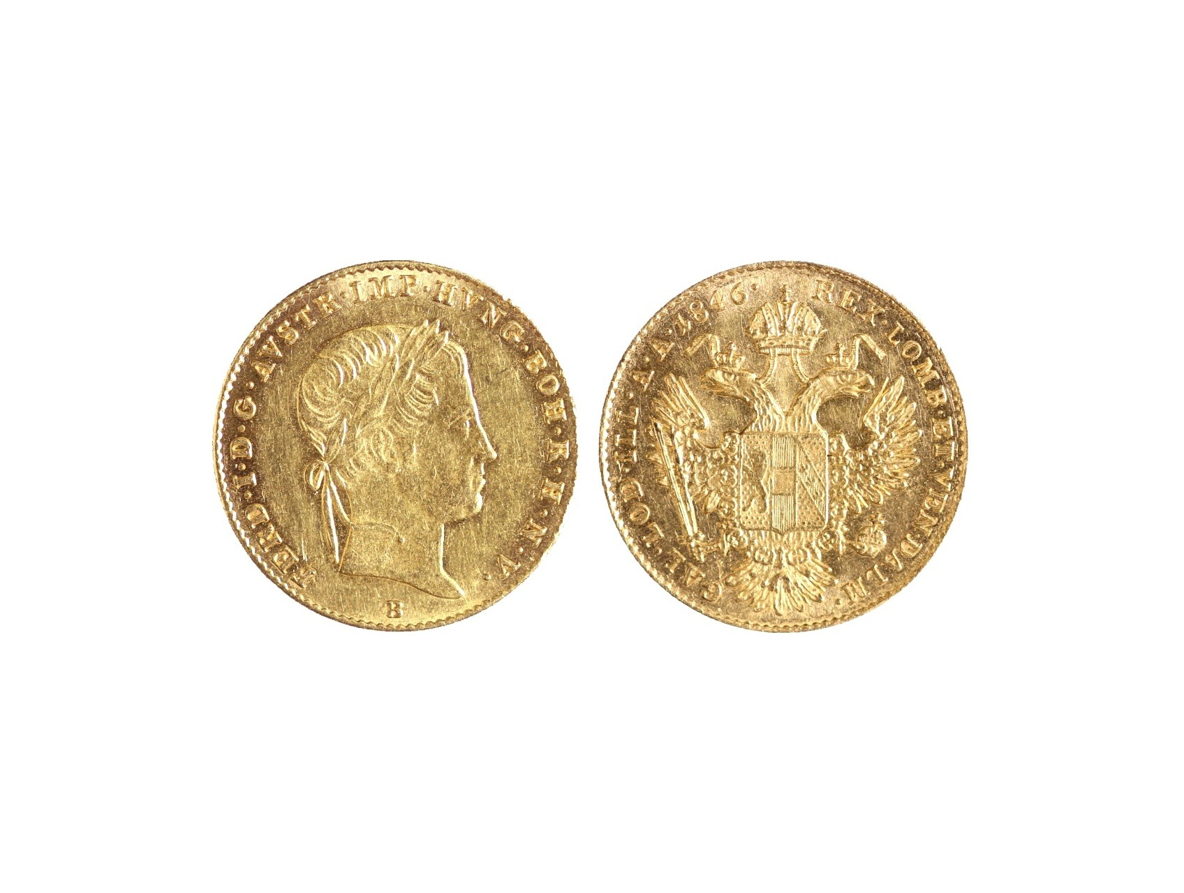 Ferdinand V. 1835-1848 - Dukát 1846 B, N44