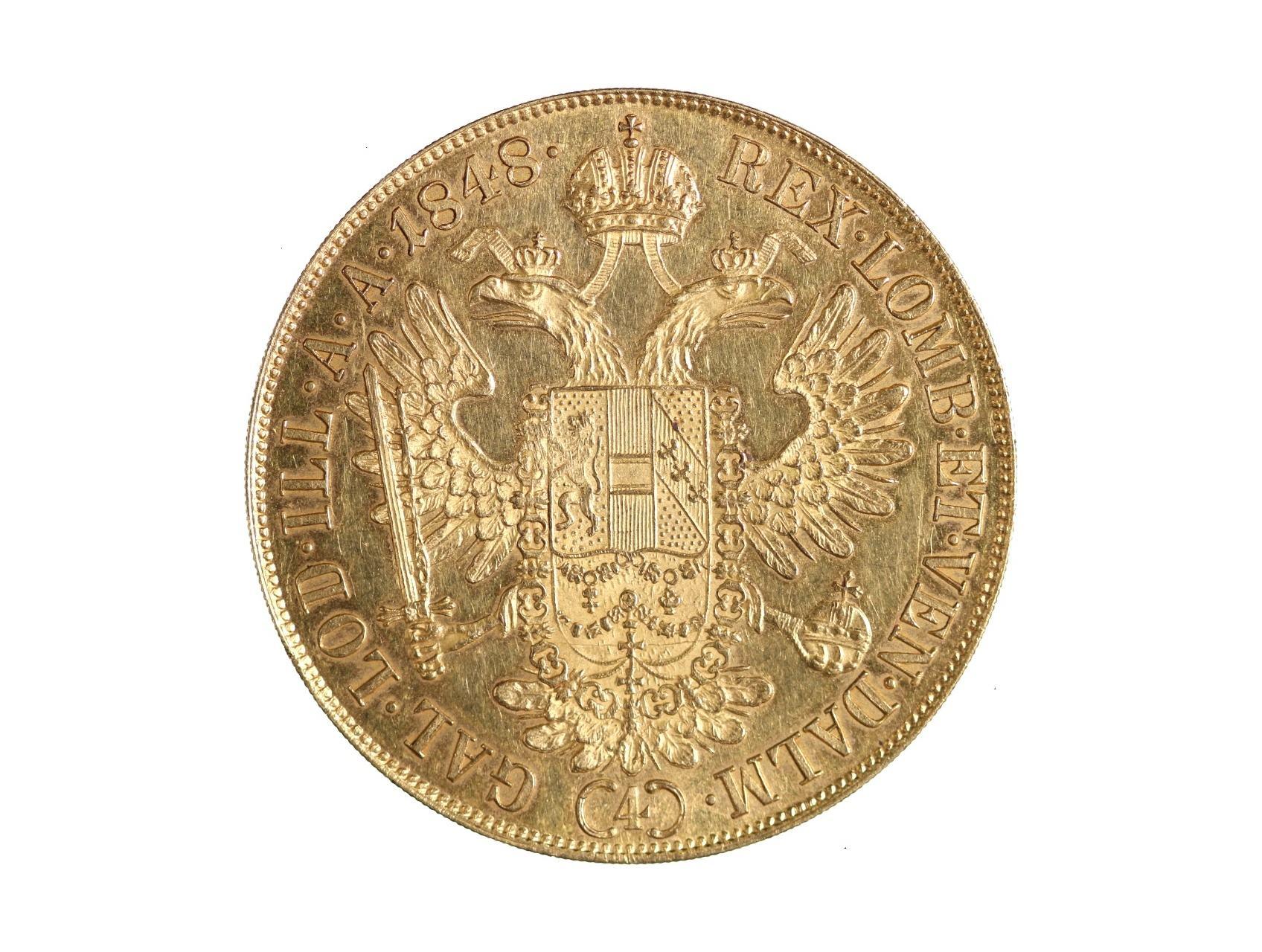 Ferdinand V. 1835-1848 - 4 Dukát 1848 A, N46