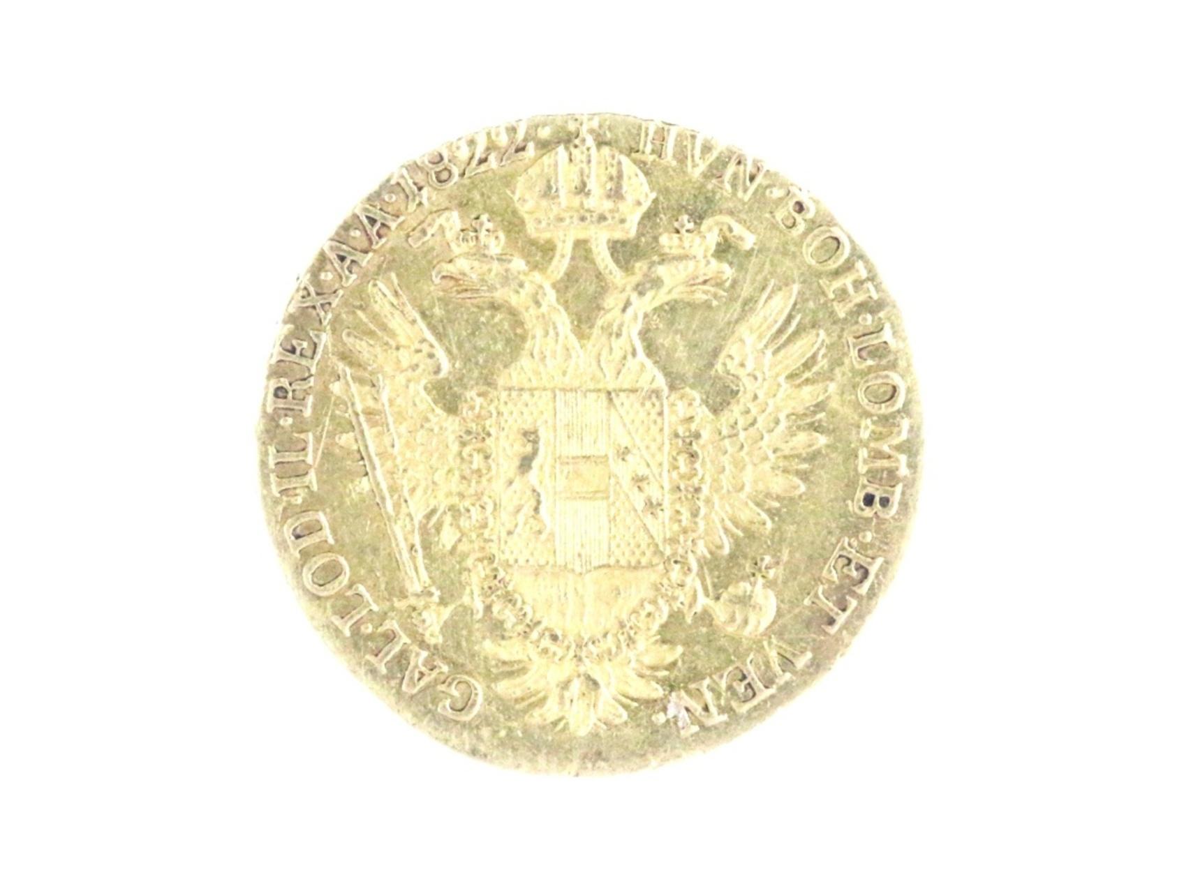 František I. 1792-1835 - Dukát 1822 E, váha 3.48g, N125