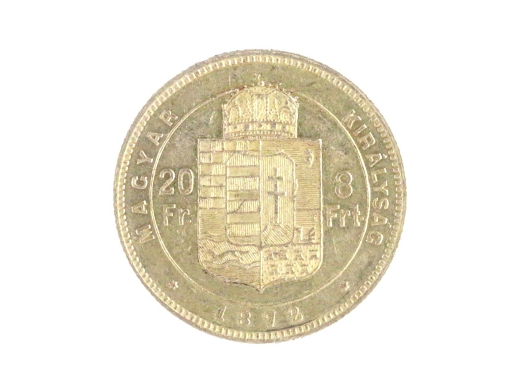 František Josef I. 1848-1916 - Osmizlatník 20 Fr. 8 For. 1872 KB, N127