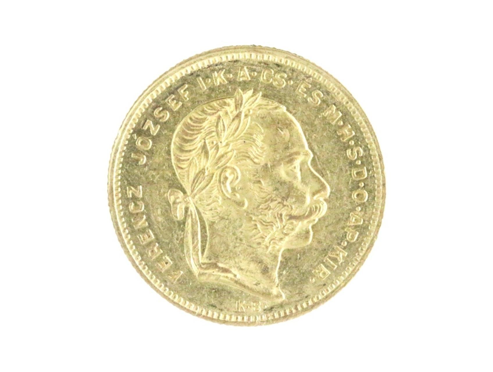 František Josef I. 1848-1916 - Osmizlatník 20 Fr. 8 For. 1873 KB, N127