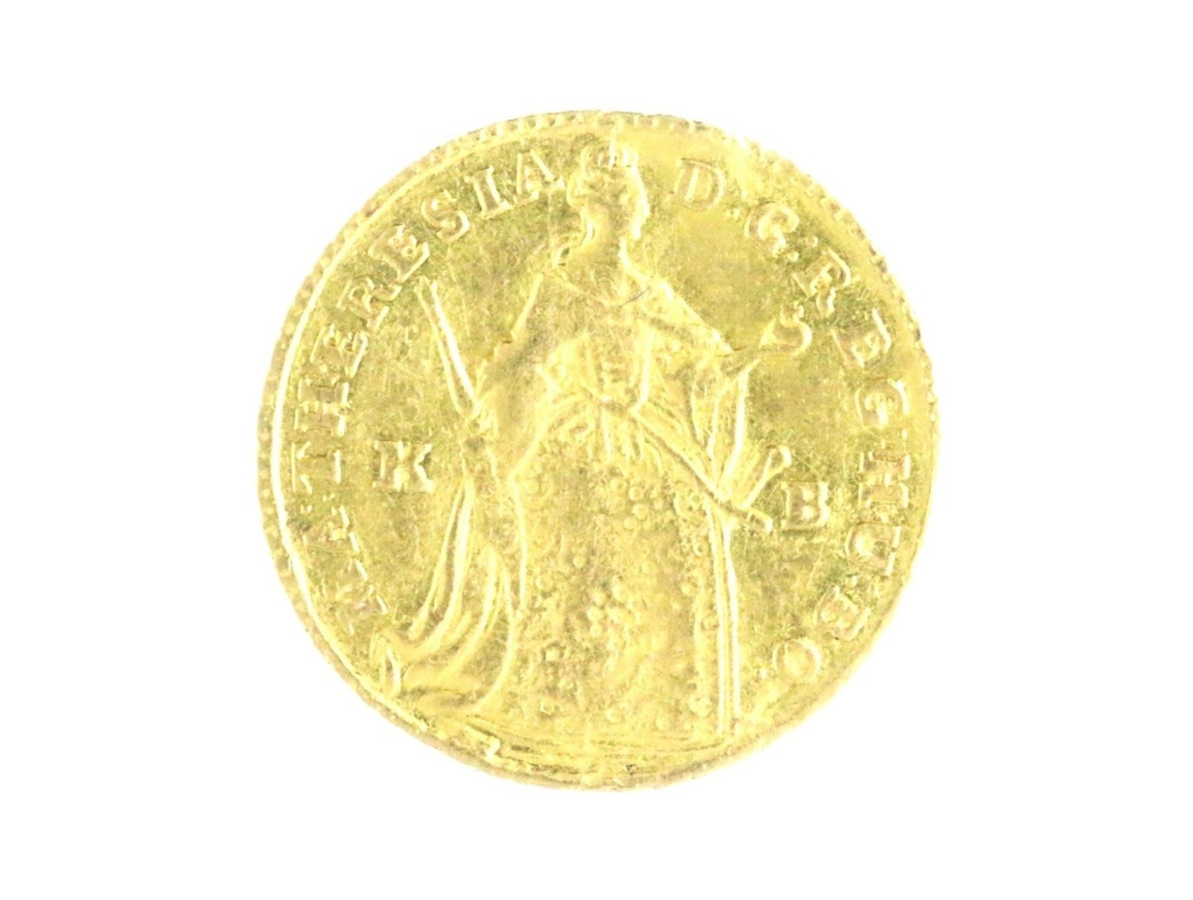 Marie Terezie 1740-1780 - Dukát 1745 KB pro Uhry s titulem královským, N204, zvlněn