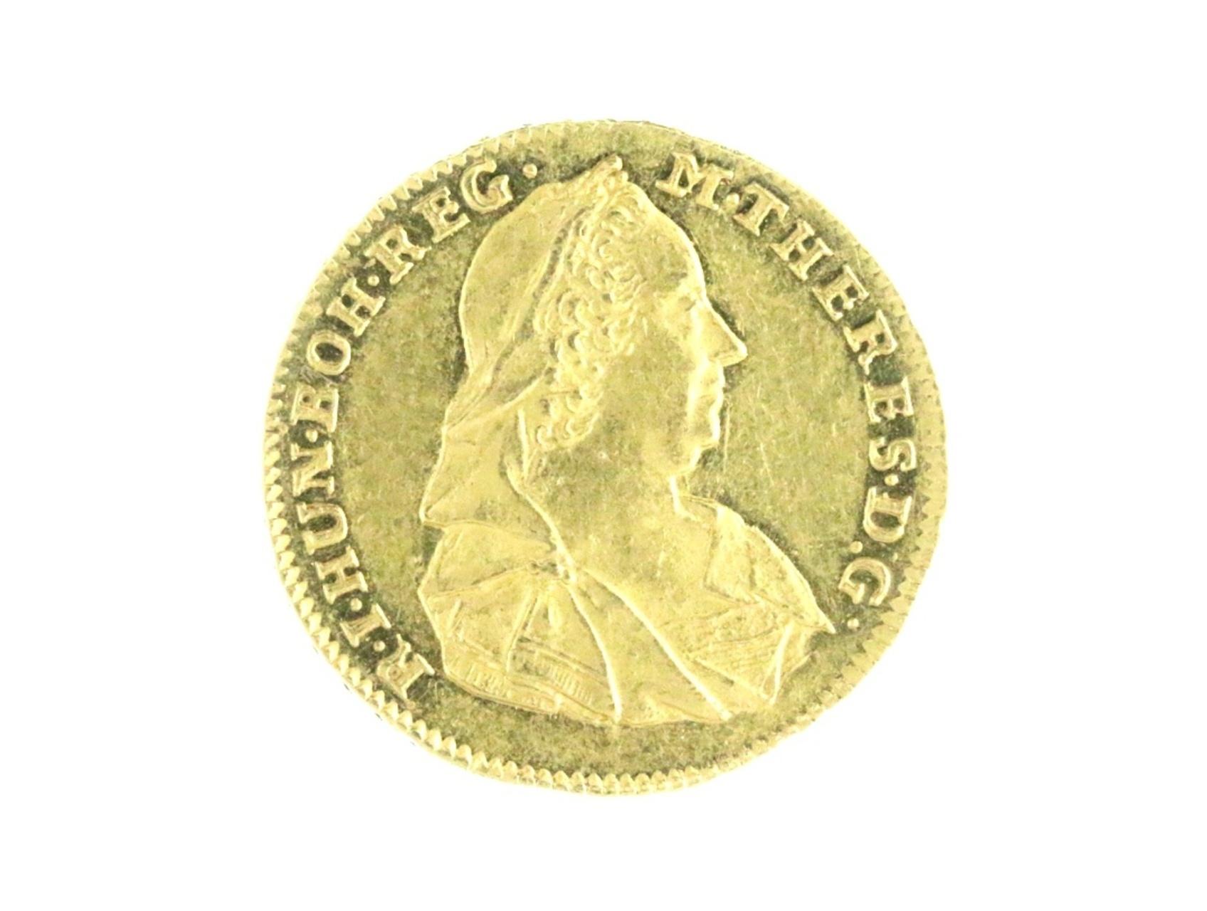 Marie Terezie 1740-1780 - Dukát 1780 HS  pro Sedmihradsko s titulem císařským, N231, zvlněn