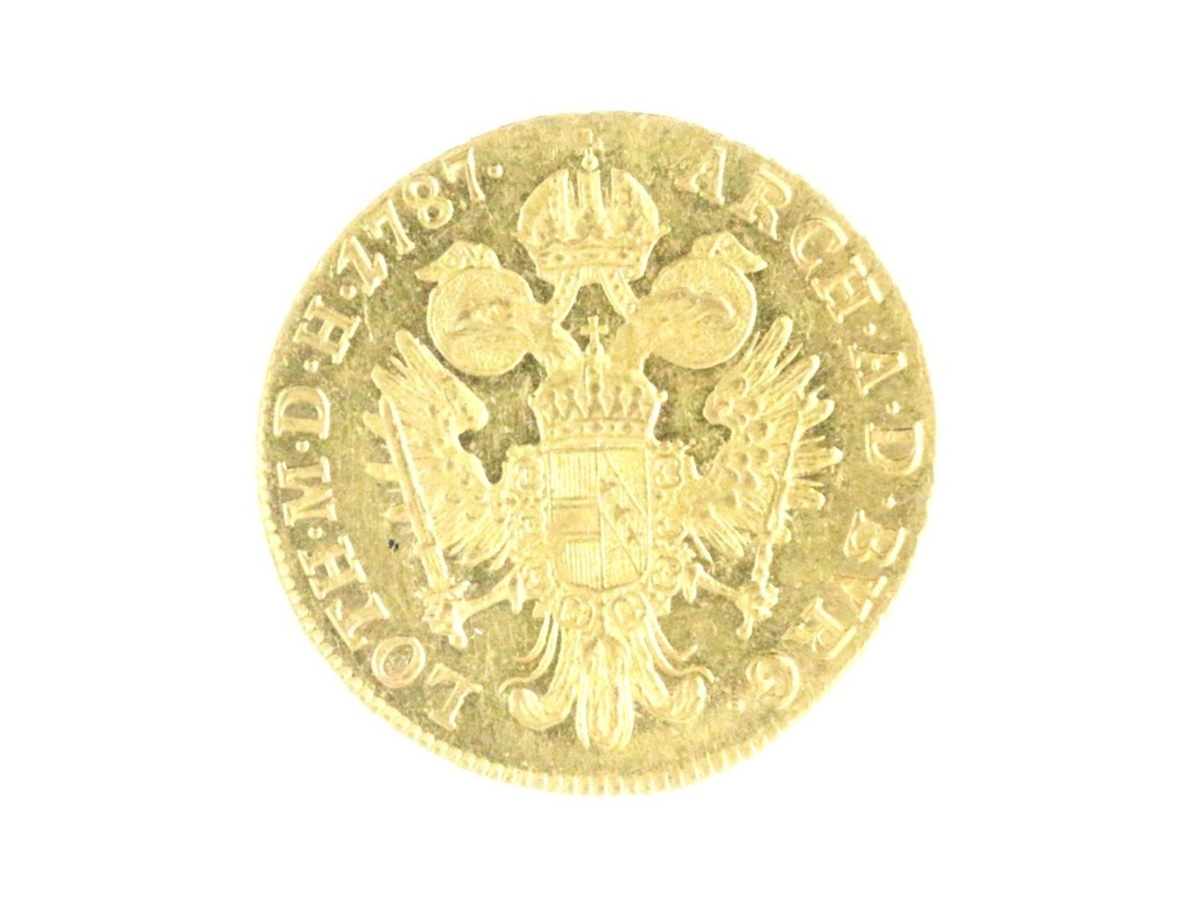 Josef II. 1765-1790 - Dukát 1787 A Vídeň pro dědičné země, N55, vlasové rysky na A