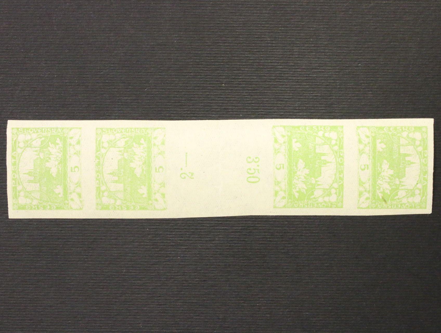 zn. č. 3 M - čtyřzn. meziarší protisměrné, uprostřed lehce přeložené, zk. Karásek