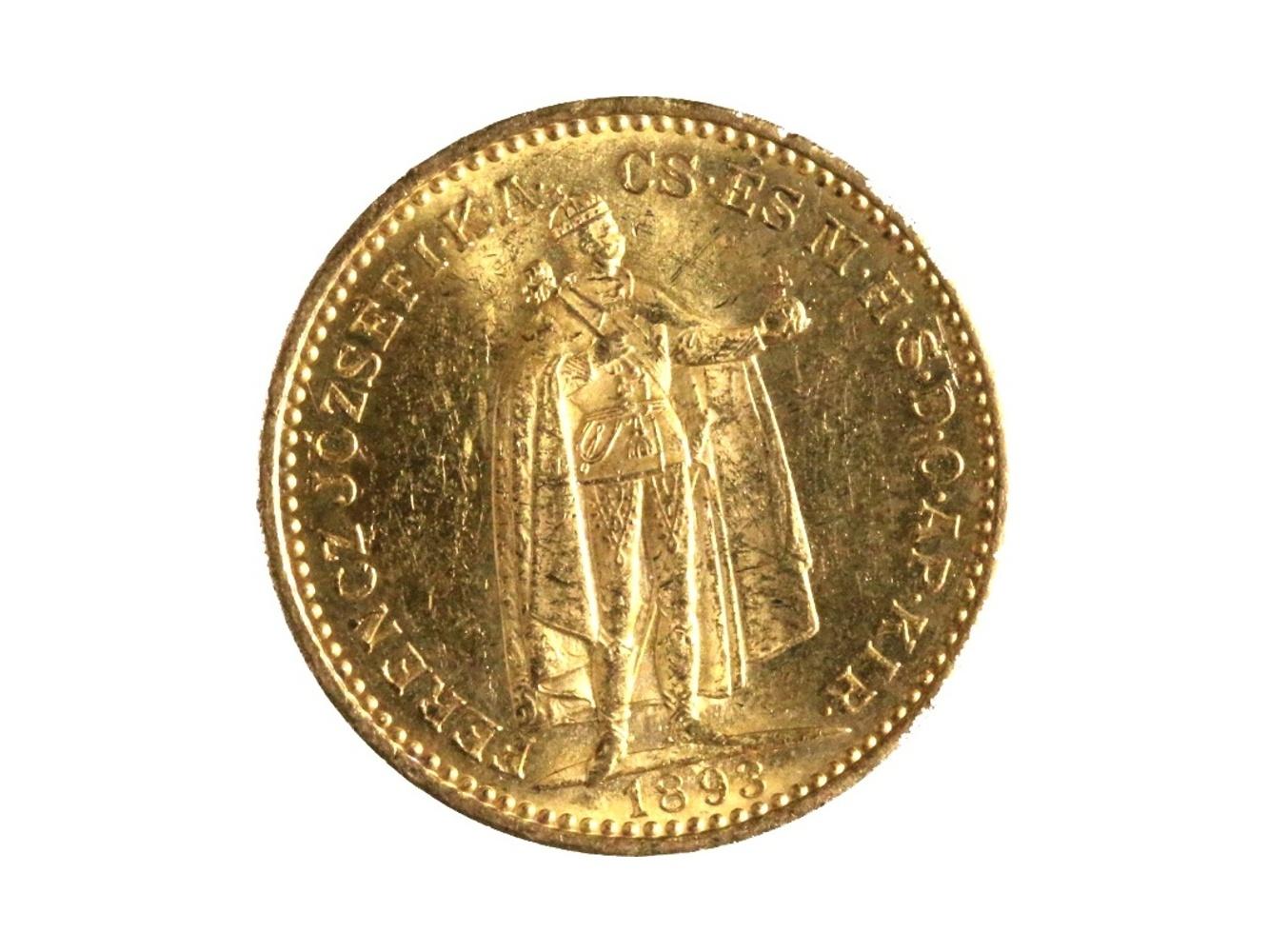 František Josef I. 1848-1916 - 20 Koruna 1893 KB, N 138