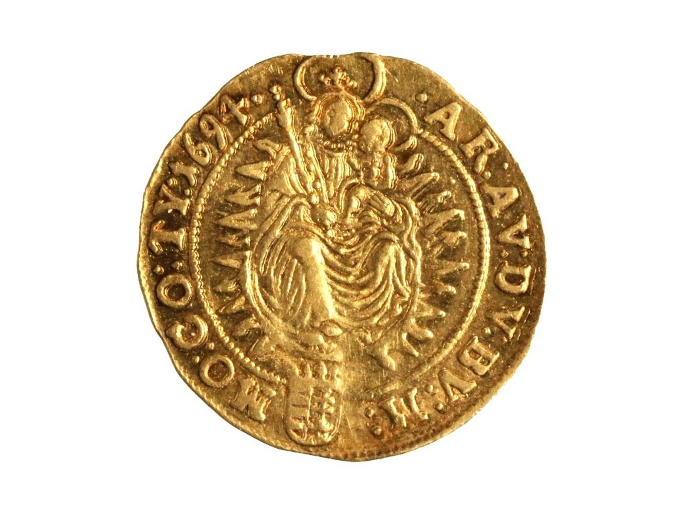 Leopold I. 1657-1705 - Dukát 1694  KB Kremnice, N 49, patina