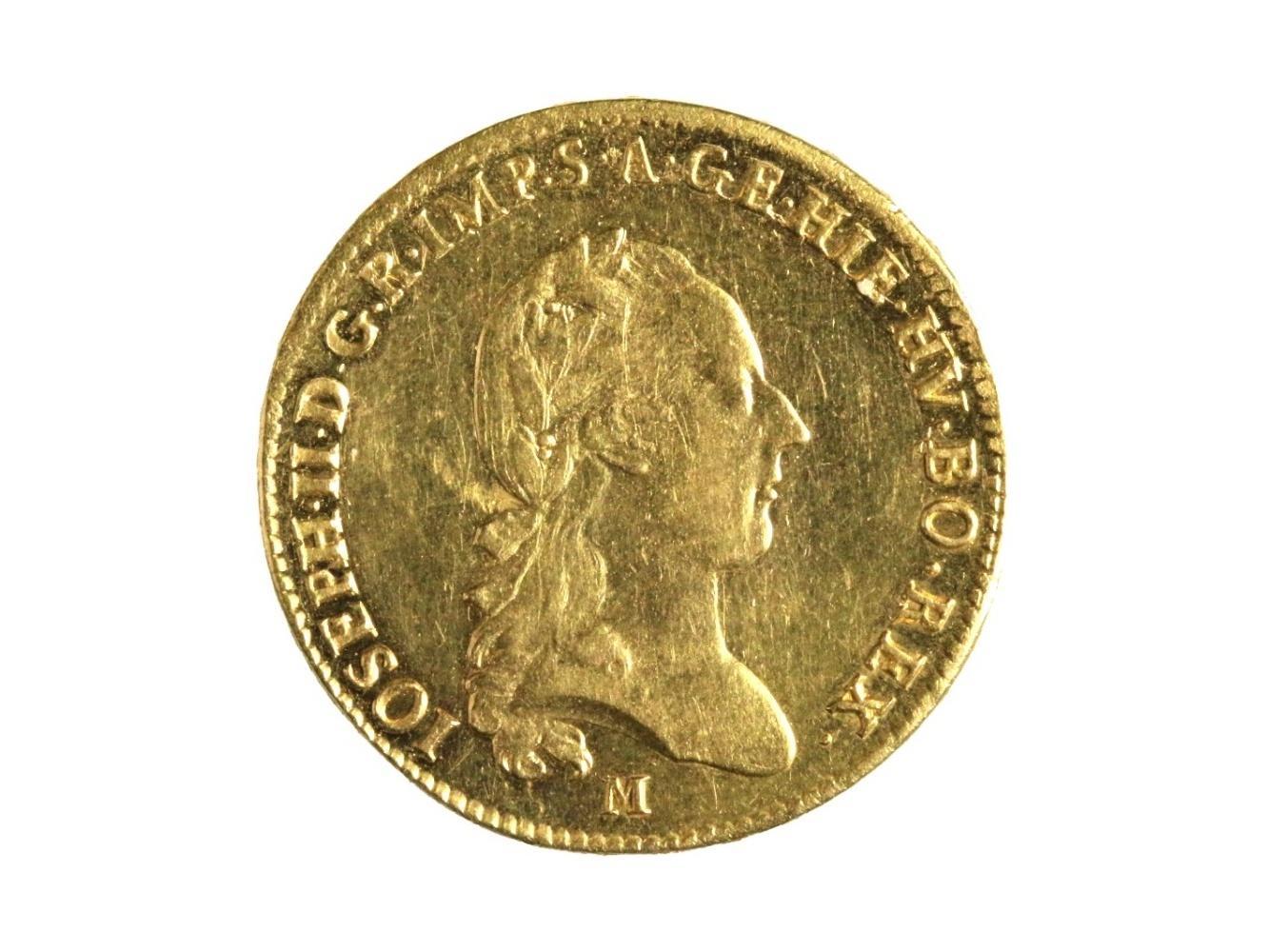 Josef II. 1765-1790 - Sovráno 1788 M Milano, N 61, nepatrně just.