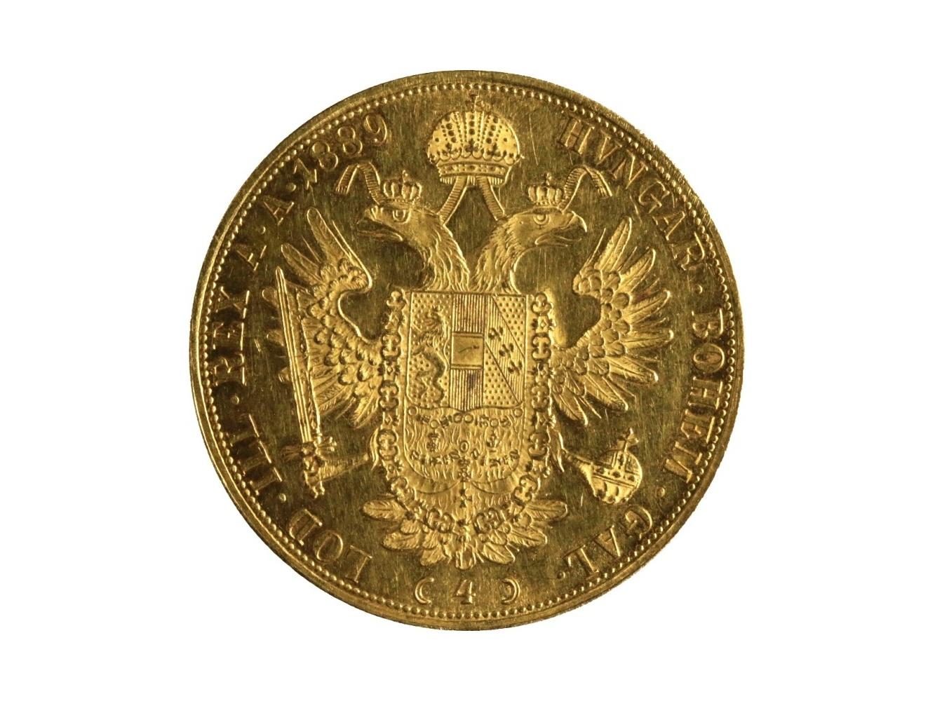 František Josef I. 1848-1916 - 4 Dukát 1889, N 117