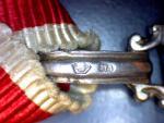 Řád Danila I. za zásluhy a nezávislost V. třídy, punc Ag a značka výrobce VM (Vincenz Mayer´s Söhne Wien)