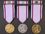 Medaile armády České Republiky za 15, 10 a 5 let služby