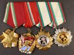 Spojka vyznamenání, Národní řád práce I. třídy, Řád Rudáho praporu č.11393, Řád lidové republiky 1. a 2. tř