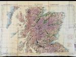 Letecká mapa RAF z roku 1944, Oblast - The Highlands (severní Skotsko - Vysočina), rozměr 100 x 70 cm