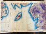 Letecká mapa RAF z roku 1942, Oblast - Irské moře , část severní Irsko a západní Anglie, rozměr 100 x 75 cm