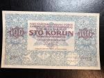 100 Kč 1919 reprint města Ivančice 2018, papír s vodoznakem a UV tiskem, STC Praha, orig. balení