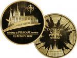 2002, Česká mincovna, zlatá medaile Summit NATO v Praze (J.Bejvl), Au 0,999, 31,1g (1 UNZ), průměr 37mm, náklad 100 ks, číslo 23