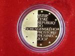 2008, Česká mincovna, zlatá medaile vstup do shengenského prostoru, Au 0,999,9, 7,78g, náklad 500 ks, etue, certifikát