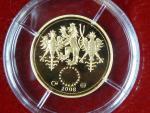 2008, Česká mincovna, zlatá medaile Dukát k narození dítěte 2008, Au 0,986,1, 3,49g, náklad 1000 ks, etue, certifikát