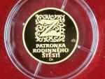 2002, Česká mincovna, zlatá medaile Sv. Zdislava z Lemberka, Au 0,999,9, 3,49g, náklad 1000 ks, etue