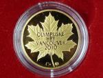 2010, Česká mincovna, zlatá medaile OH Vancouver, Au 0,999,9, 7,78g, náklad 500 ks, etue