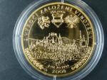2008, Česká mincovna, zlatá 10ti dukátová medaile U královny královny Elišky, Au999,9, 31,1g, hrana s opisem číslovaná č. 69, V.Oppl, L.Lietava, náklad 70ks, etue