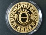 2009, pamětní 5ti dukátová medaile U královny Elišky, Au 999,9, 15,56g, číslovaná č.69, náklad 70ks, etue, certifikát