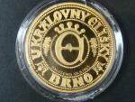 2007, pamětní 5ti dukátová medaile U královny Elišky, Au 999,9, 15,56g, číslovaná č.69, náklad 70ks, etue, certifikát
