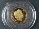 5 Dollars 2006 Velikonoční ostrov, Au 585/1000, 1,25g, průměr 13,92 mm, certifikát