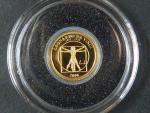 500 Togrog 2007 Alfred Nobel, Au 999/1000, 0,5g, průměr 11 mm, certifikát