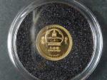 500 Togrog 2006 Leonardo da Vinci, Au 999/1000, 0,5g, průměr 11 mm, certifikát