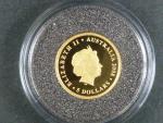 5 Dollars - Au 0,999, 1,25 OZ,  - Kookaburra 2008, kvalita proof