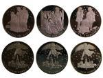 Sada 3 stříbrných medailí, Ag 0.925, 20 g. průměr 40 mm, etue, certifikát