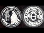 pamětní medaile 2007 Klub královny Elišky - I.výročí založení vinotéky, Ag999, 16g, hrana hladká, náklad 100ks
