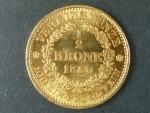 Spolková 1/2 Krone 1860  A, v tomto stavu velmi vzacna, ex. aukce H.D.Rauch c.83, polozka c.2330